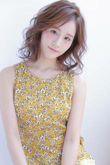 王道セミロング×3Dアッシュベージュ|allys hair shinsaibashi OPAのヘアスタイル