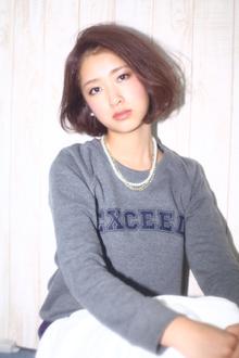 上品ワンカールボブ|allys hair shinsaibashi OPAのヘアスタイル
