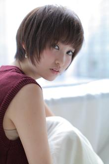 ナチュラルショートヘアー allys hair shinsaibashi OPAのヘアスタイル
