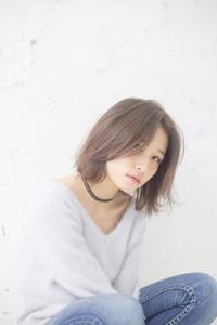 小顔効果アップ☆うざバングナチュラルボブスタイル☆