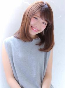 ★カットで決まる!鎖骨下のひし形ナチュラルグラデーション★|allys hair shinsaibashi OPAのヘアスタイル
