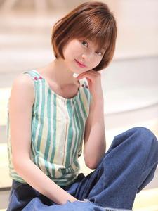 スタイリングいらずの美シルエットショート allys hair shinsaibashi OPAのヘアスタイル