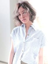 透き通るようなオーシャングレージュボブ|allys hair shinsaibashi OPA KAZZのヘアスタイル
