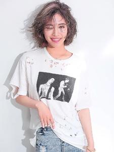 ボブに軽さを出して無造作なスタイルに☆ allys hair shinsaibashi OPAのヘアスタイル