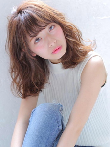 ワイドバング★くびれミディゆるふわナチュラルスタイル★|allys hair shinsaibashi OPAのヘアスタイル