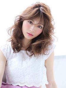 ★モーブカラー&シースルーウザバングとふわふわミックス★|allys hair shinsaibashi OPAのヘアスタイル