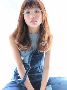 ★大人セミウェットベージュブラウン★ワイドバングくびれミディ|allys hair shinsaibashi OPAのヘアスタイル