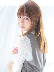 ★艶感たっぷりの上品なナチュラルストレート★|allys hair shinsaibashi OPAのヘアスタイル