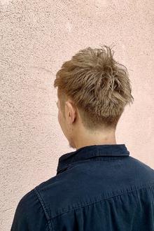 メンズショート×グレージュ|ALPHA SALIDAのヘアスタイル