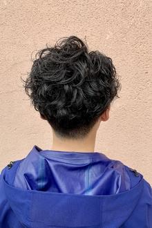 ツーブロックマッシュショート×スパイラルパーマ|ALPHA SALIDAのヘアスタイル
