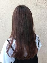 ナチュラルピンクグラデーションカラー ALPHA SALIDA 外谷 靖のヘアスタイル