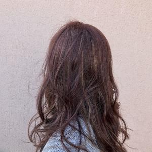 ラベージュ×ハイライト ALPHA SALIDAのヘアスタイル