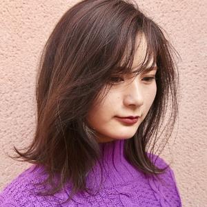 ダークアッシュ×インナーカラー|ALPHA SALIDAのヘアスタイル