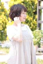 ゆるふわショートボブ|ALPHA SALIDA 池田 恵のヘアスタイル