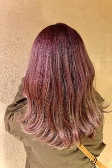 クリーミーピンク×グラデーション|ALPHA SALIDAのヘアスタイル