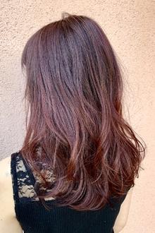 ミディアム×チェリーレッド|ALPHA SALIDAのヘアスタイル
