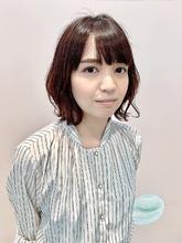 ミディアム・大人可愛い小顔パーマ|ALPHA SALIDA 山口 智子のヘアスタイル