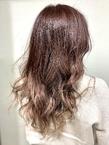 春にオススメ!ピンクラベンダー×ハイライトグラデーション|ALPHA SALIDAのヘアスタイル