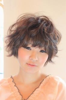 ☆ふわクシャショート☆ hair lounge an rioのヘアスタイル