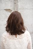 かきあげミディアムヘア