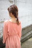編みおろしヘア