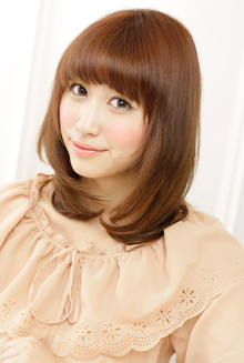 憧れの健康的な髪を実現したしっとりツヤツヤのキュートヘア|JENOのヘアスタイル