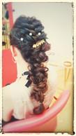 編込みを組み合わせて立体感のあるスタイルに!|hairdesign aRia 岡本店のヘアスタイル