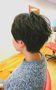 ストレートアイロンでパーマのカール感!|hairdesign aRia 岡本店のヘアスタイル