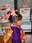 七五三の、七歳新日本髪スタイル