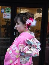 二十歳の寿ぎ|ヘアー アンド メイク アロマ (美容室アロマ) 都立大学駅前店のヘアスタイル