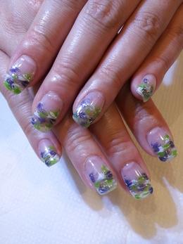 ジェルネイル☆マーブル|Hair&nail h Blancheのネイル