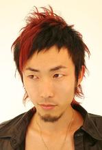 オシャレッドモヒカン|B2C梅田のヘアスタイル