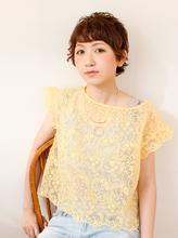 おしゃれショートパーマ|B2C梅田のヘアスタイル