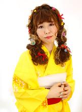 編み込みおさげアレンジ|B2C梅田のヘアスタイル