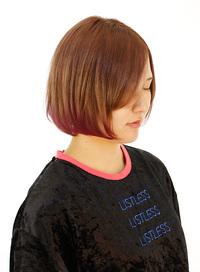内巻き、外ハネどちらでもかわいい裾カラー
