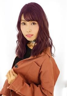 ビビッドなピンクパープルカラー|B2C梅田のヘアスタイル