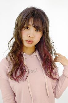ガーリーなユニコーンカラー|B2C梅田のヘアスタイル