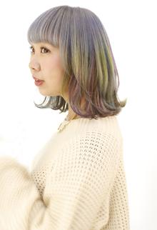 ふんわり淡いパステルカラーでガーリー|B2C梅田のヘアスタイル