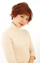 モードな赤髪ショート|B2C梅田のヘアスタイル