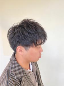 アイロンを使わずにパーマのみで|B2C梅田のヘアスタイル