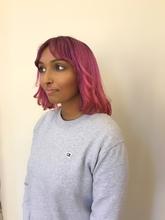 綺麗なピンク染めます|B2C梅田のヘアスタイル