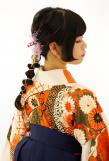 姫カットを生かした編みおろしアレンジ