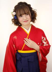 卒業式ヘアスタイル・袴着付 Raffine 三宮のヘアスタイル