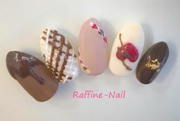 ぷっくりおいしそうなチョコネイル|Raffine 三宮のネイル