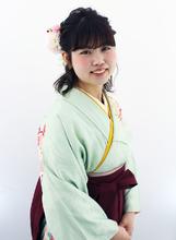 ミディアムヘアも可愛く華やかに☆|Raffine 三宮 坂田 恵生のヘアスタイル