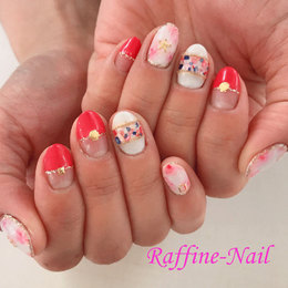 爽やかな雰囲気のピンクネイル♪|Raffine 三宮のネイル