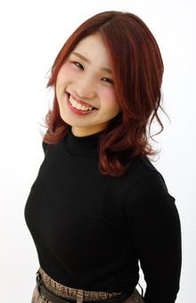 赤系艶カラー|Raffine 三宮のヘアスタイル