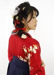 サイドの編みおろし袴アレンジ
