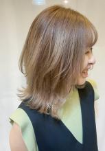長さを変えずに顔まわりだけで気軽にイメチェンできます|Raffine 三宮 松浦 知奈美のヘアスタイル
