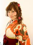 袴の着付けヘアセット